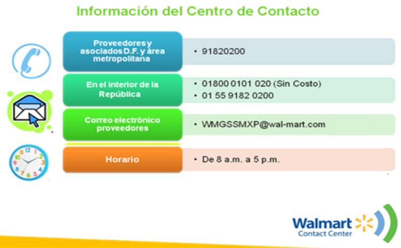 Pagos y Facturación - Walmart México - formato nota de credito