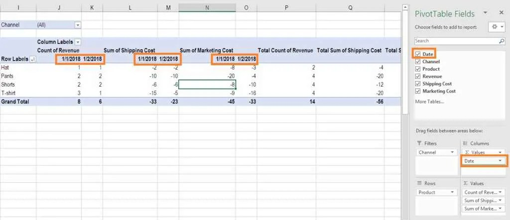 Pivot Table Guide - Images, Instructions How to Use Excel Pivot Table