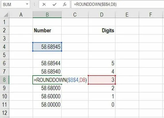 Excel Round Down - Formula to Round Down Numbers in Excel