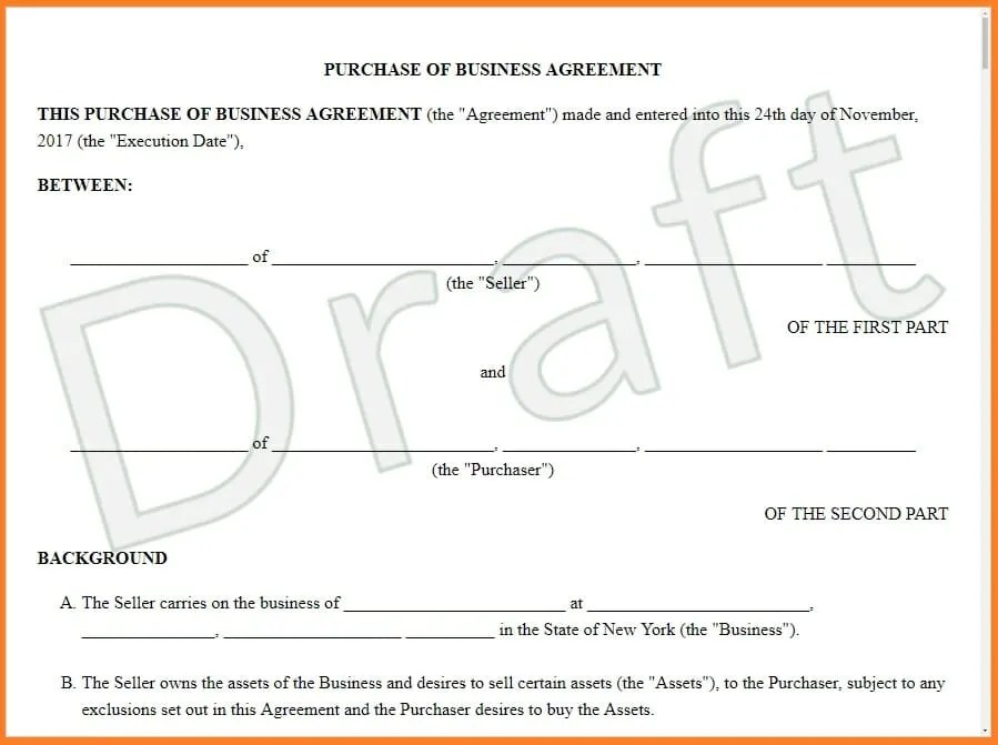 Sale and Purchase Agreement - Features  Provisions, Examples - purchase and sales agreement
