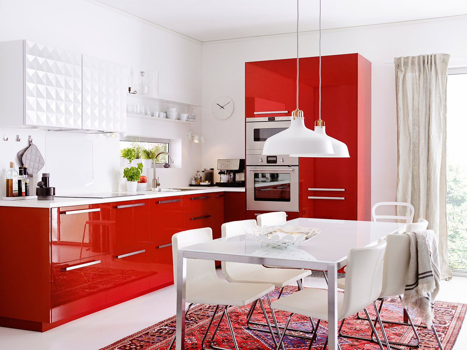Cucina Ikea Rossa Cucine Colorate Come Un Quadro Contemporaneo Cose Di Casa