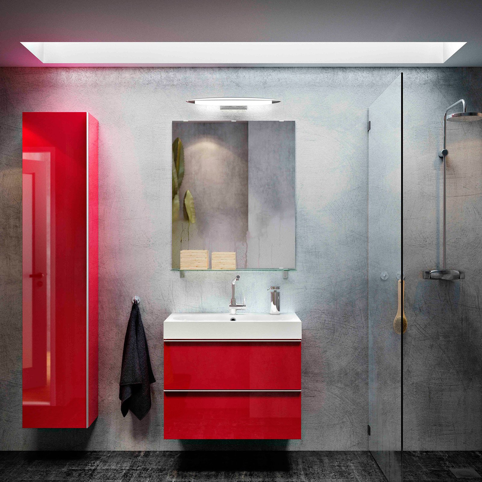 Meuble Salle De Bain Rouge Ikea Lavabo And Mobile Cose Di Casa