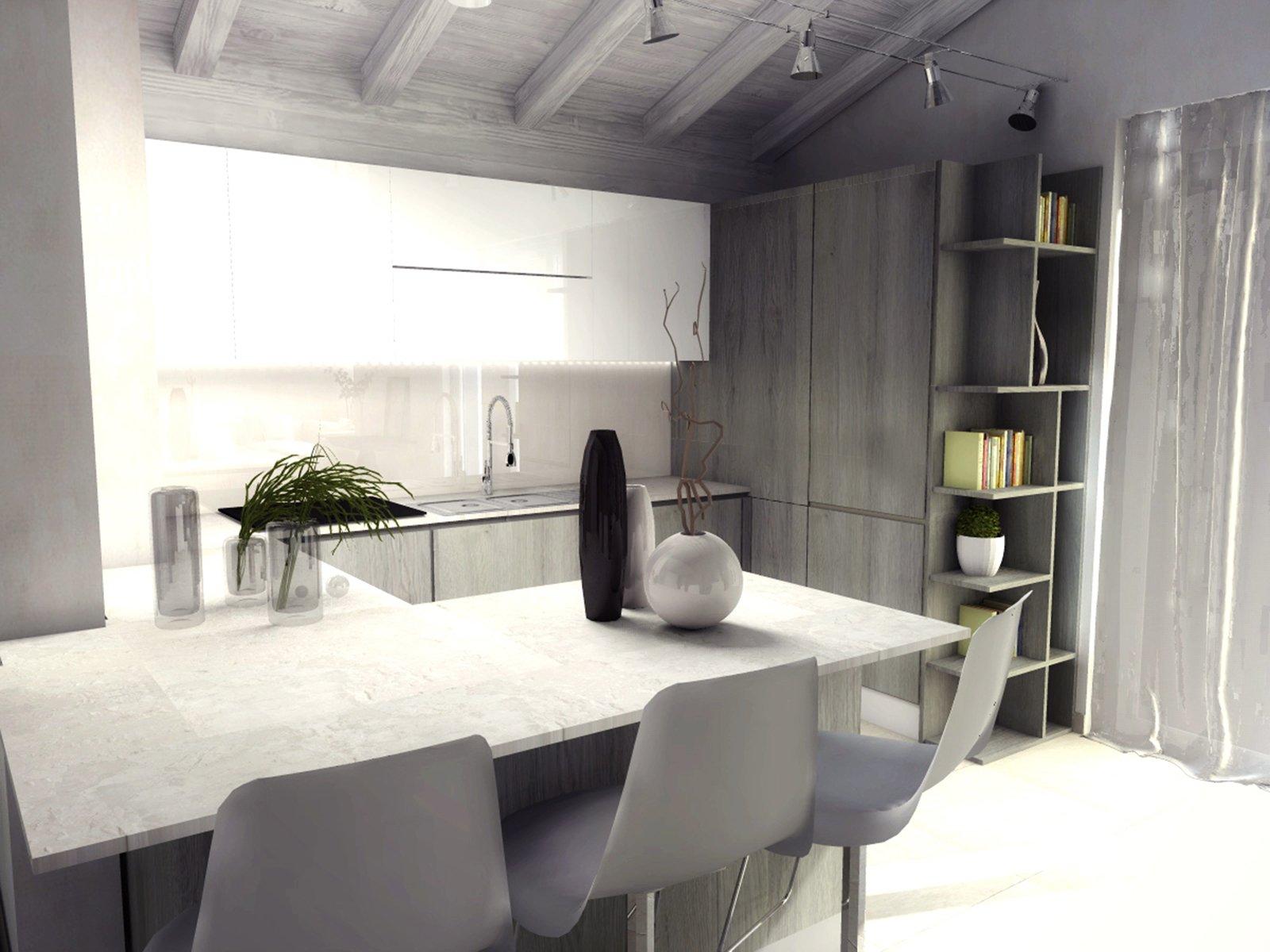 Cucina X Mansarda | Cucina In Muratura 70 Idee Per Cucine Moderne ...