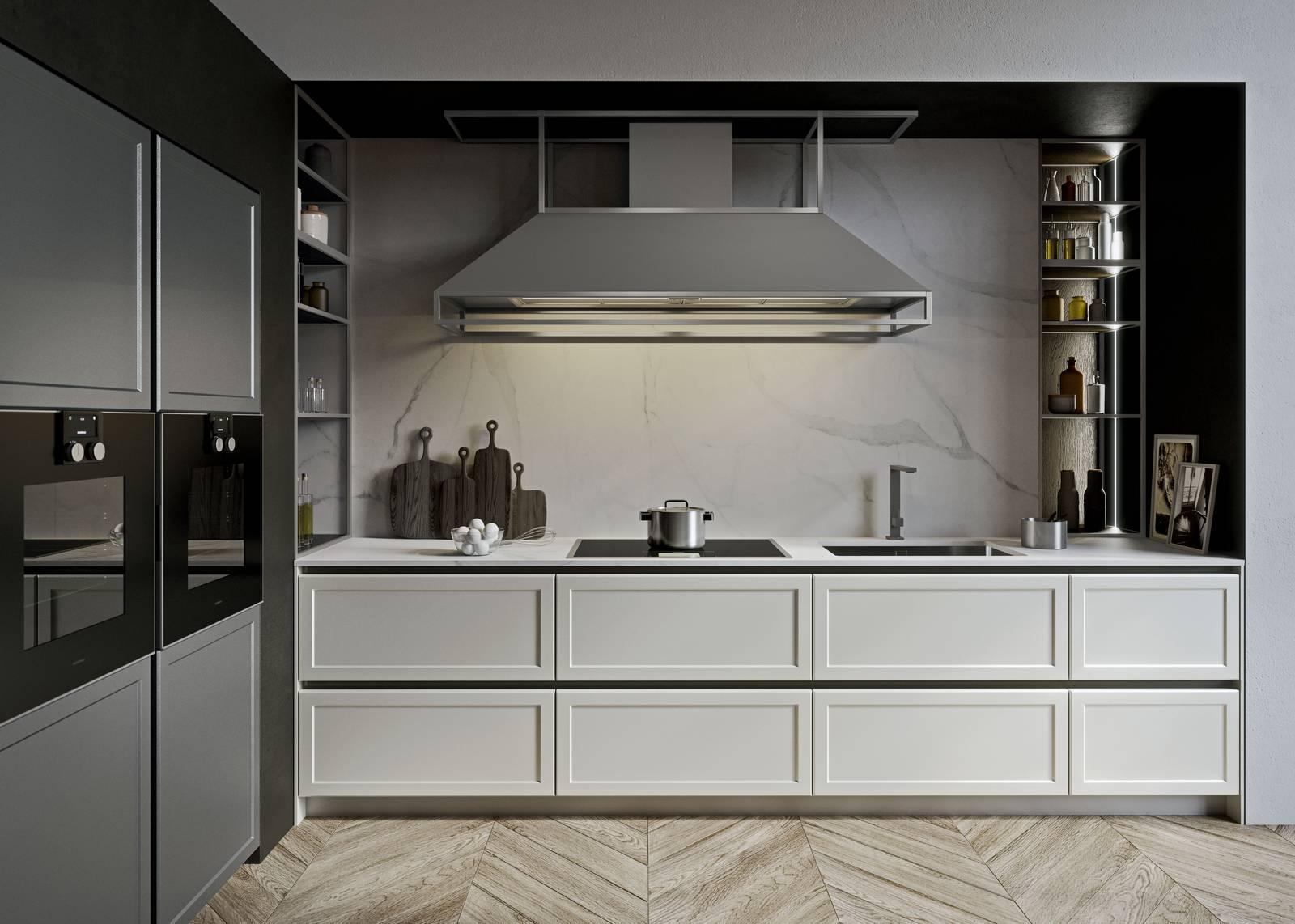 Top Cucina Marmo Bianco | Bello Top Cucina In Marmo Bianco Carrara ...