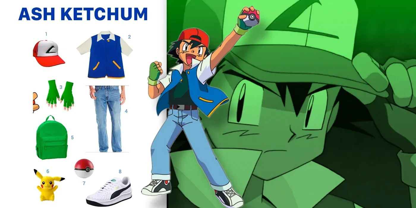 Amazon Jeans Dress Like Ash Ketchum Costume | Halloween And Cosplay Guides