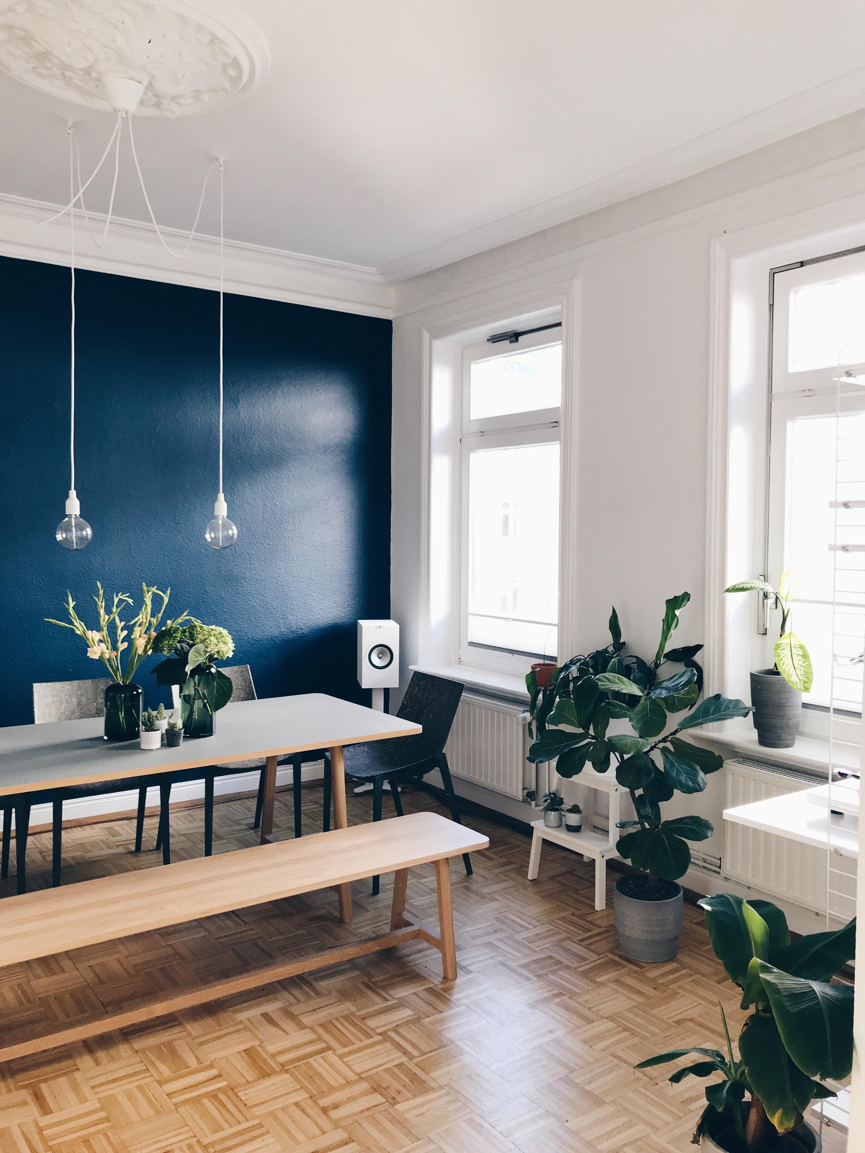 Schlafzimmer Ideen Dunkelblau Petrolfarbene Wandfarbe Bilder And