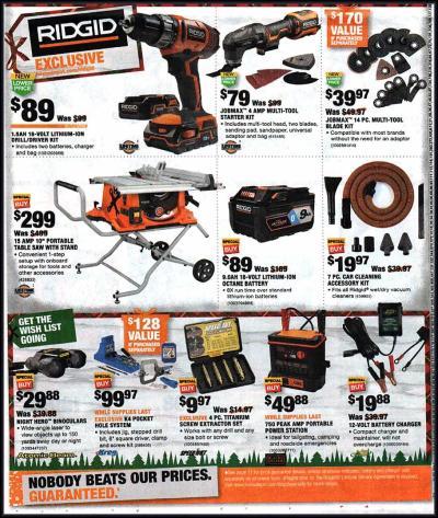 Home Depot Black Friday Ads, Sales, Deals Doorbusters 2018 ...