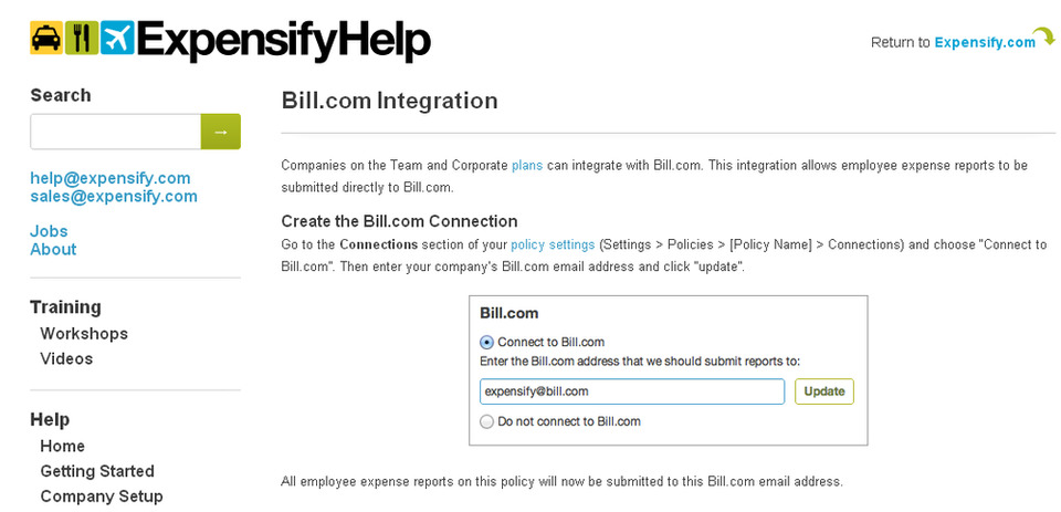 Bill Integrates with Expensify for Streamlined Expense Reports