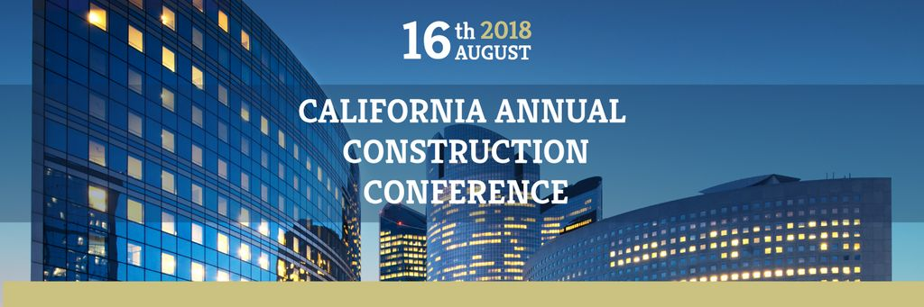 Annual construction conference announcement Twitter Header