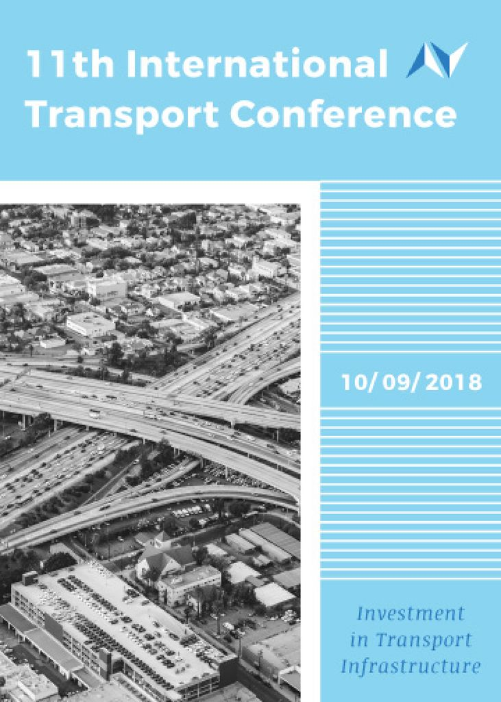 International transport conference announcement Flyer 5x7in template