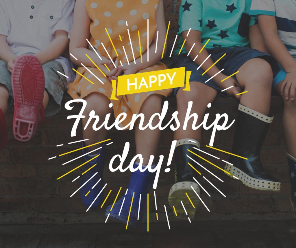 happy friendship day poster Facebook post template \u2014 Design Online