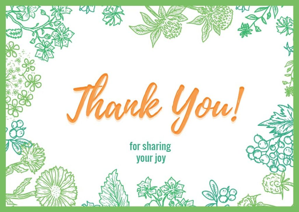 Thank you card Card 148x105сm template \u2014 Design Online \u2014 Crello