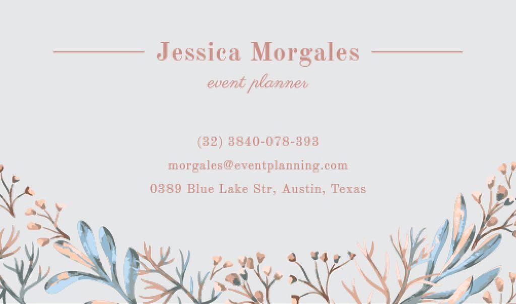 event planner business card template Business card 85x5сm template