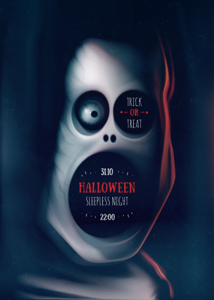 Scary Halloween zombie Flyer 5x7in template \u2014 Design Online \u2014 Crello