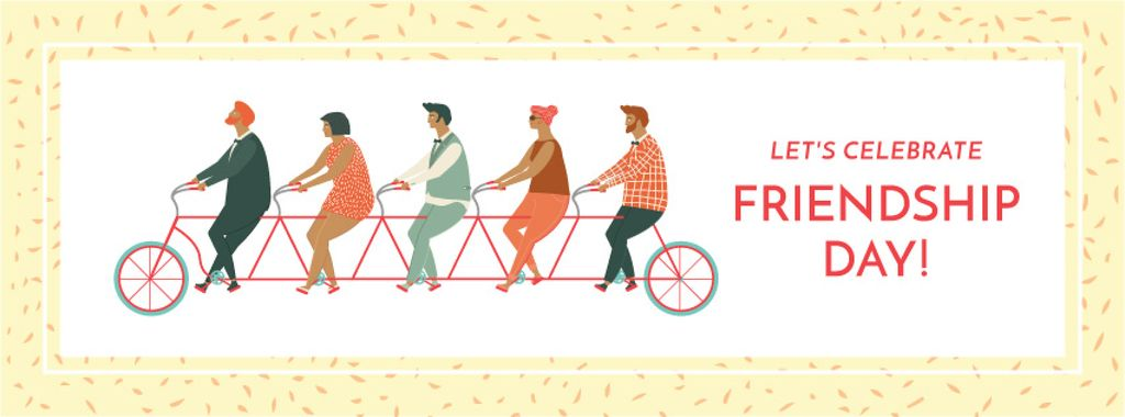 Friendship day greeting card Facebook cover 851x315px template