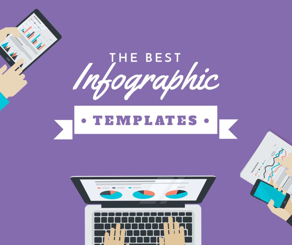 Best infographic templates banner Facebook post template \u2014 Design
