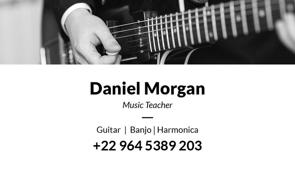music teacher business card Business card 85x5сm template \u2014 Design