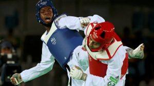 Lutalo Muhammad, atleta británico, compitiendo en Rio 2016. Cortesía de Juegos Olímpicos Rio 2016
