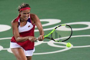 Mónica Puig de Puerto Rico se bañó en oro en el tenis. / AFP PHOTO / JAVIER SORIANO