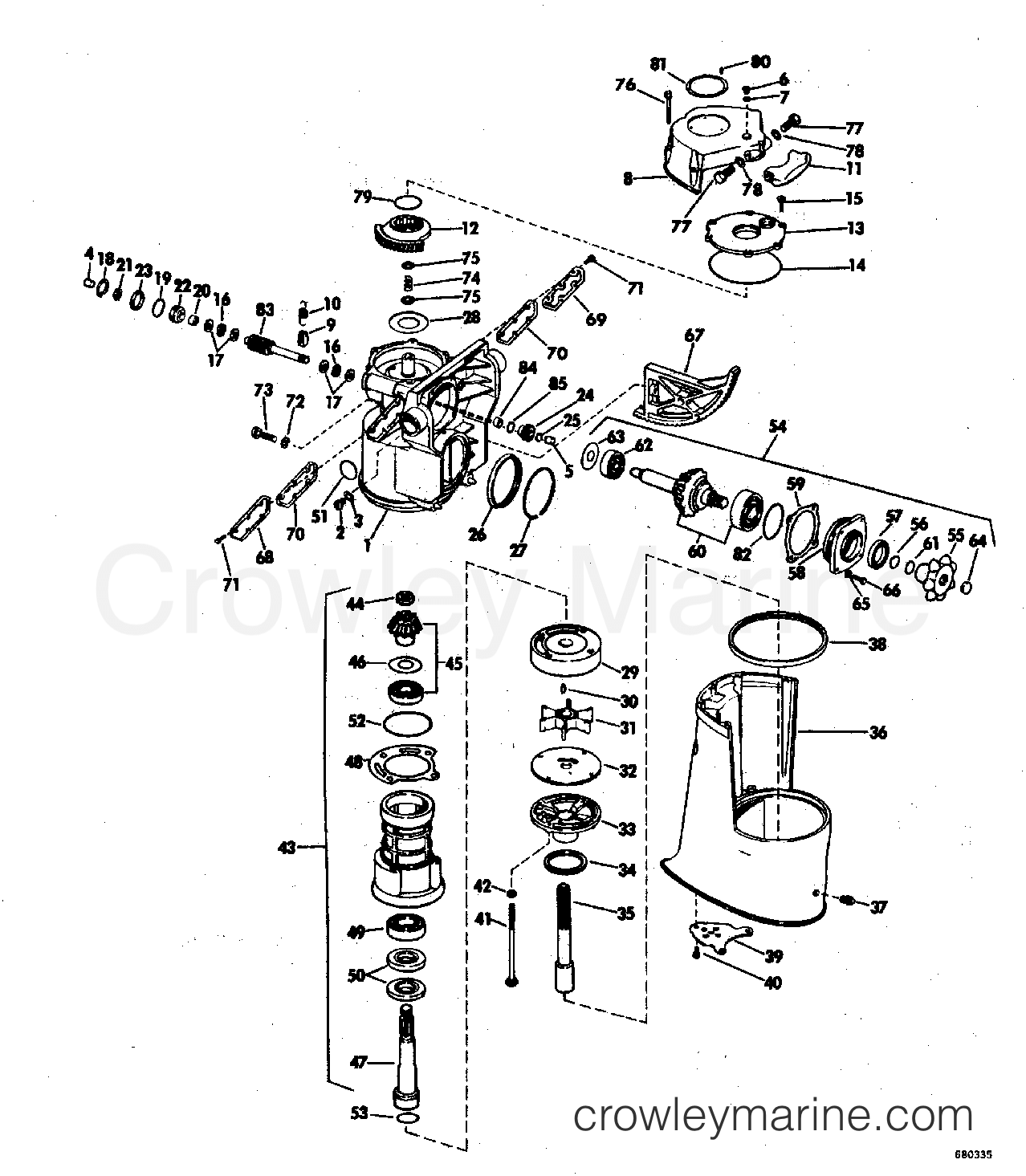 omc 5005801 ignition switch wiring diagram