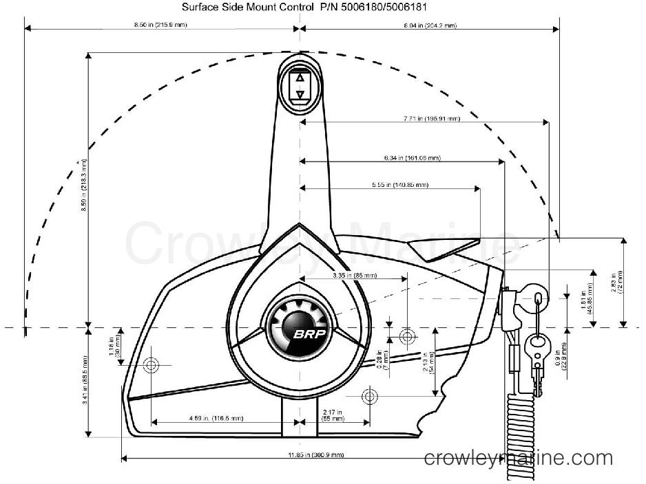 Prewired SUrface Mount Remote Control - Crowley Marine