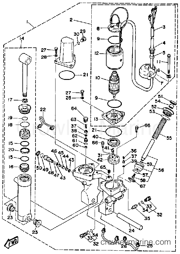 yamaha 90 hp trim and tilt wiring diagram