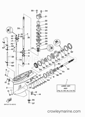 25 horse johnson motor diagram