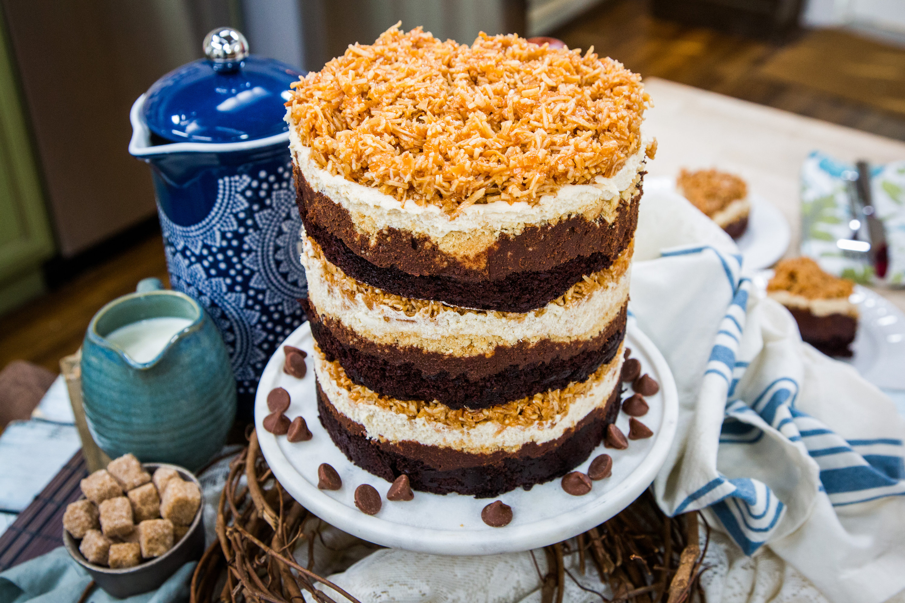 Cocos Kuchen Chocolate Coconut Cookie Cake