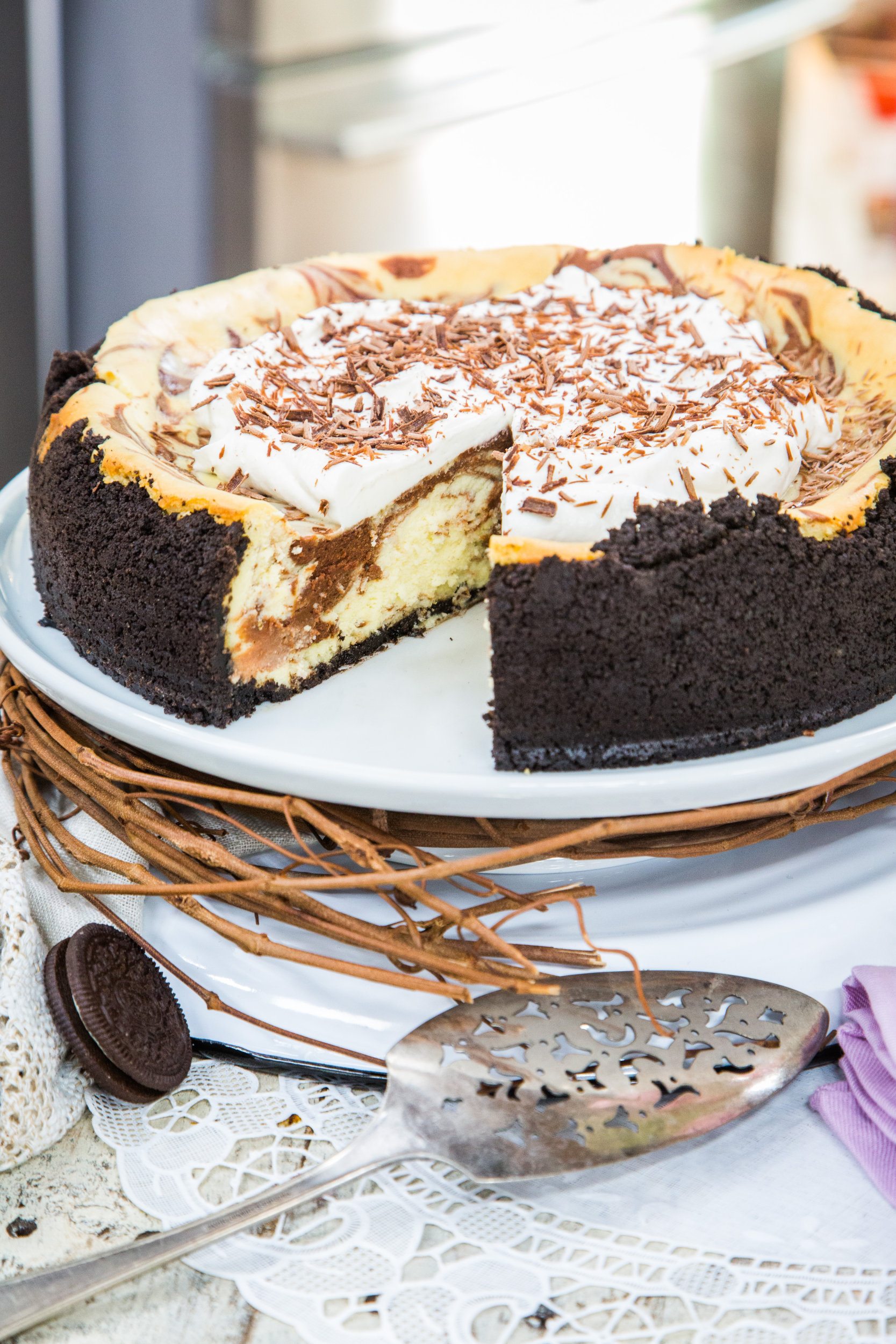 Family Küchen Chocolate Marble Cheesecake