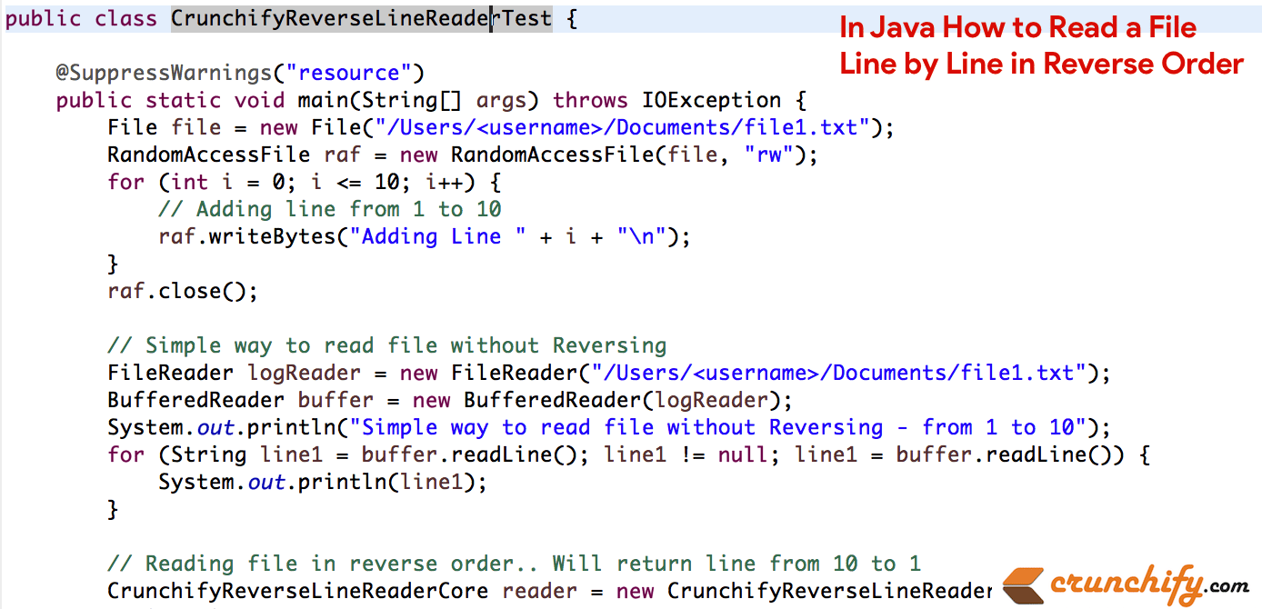 Out Java From In Java How To Read A File Line By Line In Reverse Order