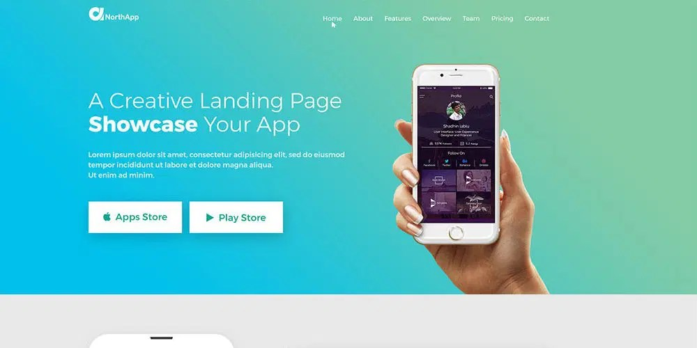 Free Web Templates From 2018 » CSS Author - Free App Template
