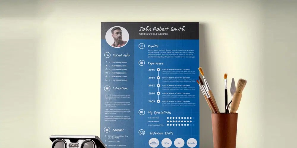 Ultimate Collection of Free Resume Templates » CSS Author - resume template psd