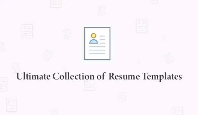 Ultimate Collection of Free Resume Templates » CSS Author - fill in resume templates