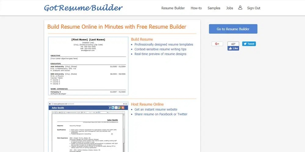 Best Professional Online Resume Builders » CSS Author - free online resume writer