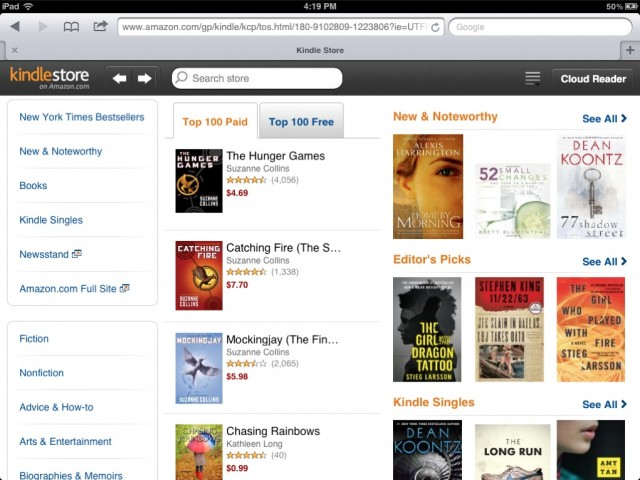 Amazon Launches Kindle Store Web App For The iPad Cult of Mac