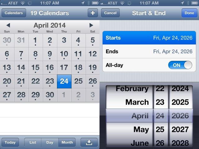 Find And Schedule Future Calendar Events Faster on Your iPhone iOS