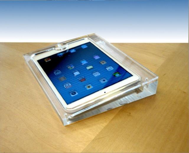 Display Unit Encases Ipad Mini Inside Solid Plastic Block