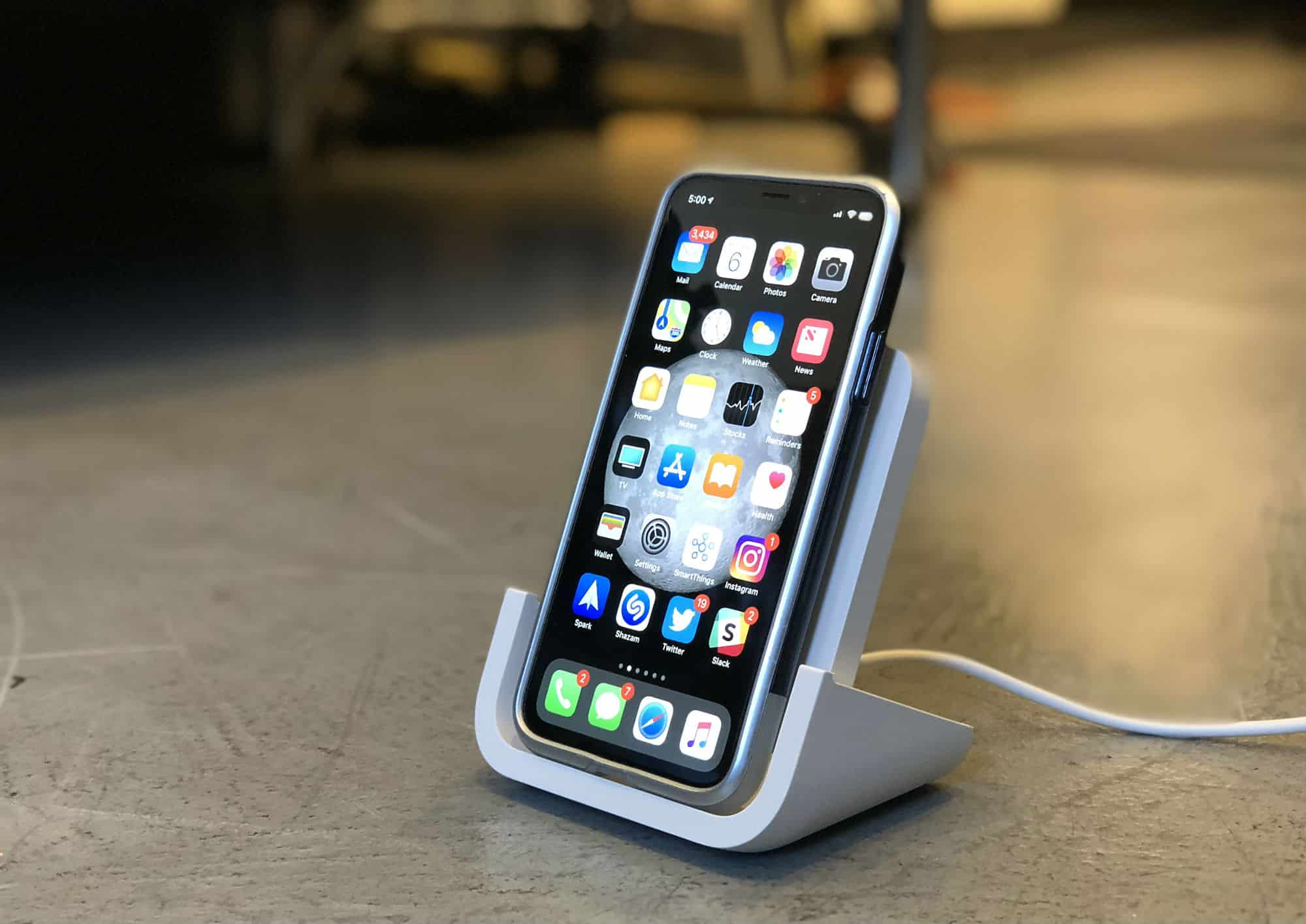 Iphone Cordless Charger Logitech Powered Wireless Charger Review Iphone Charging Is