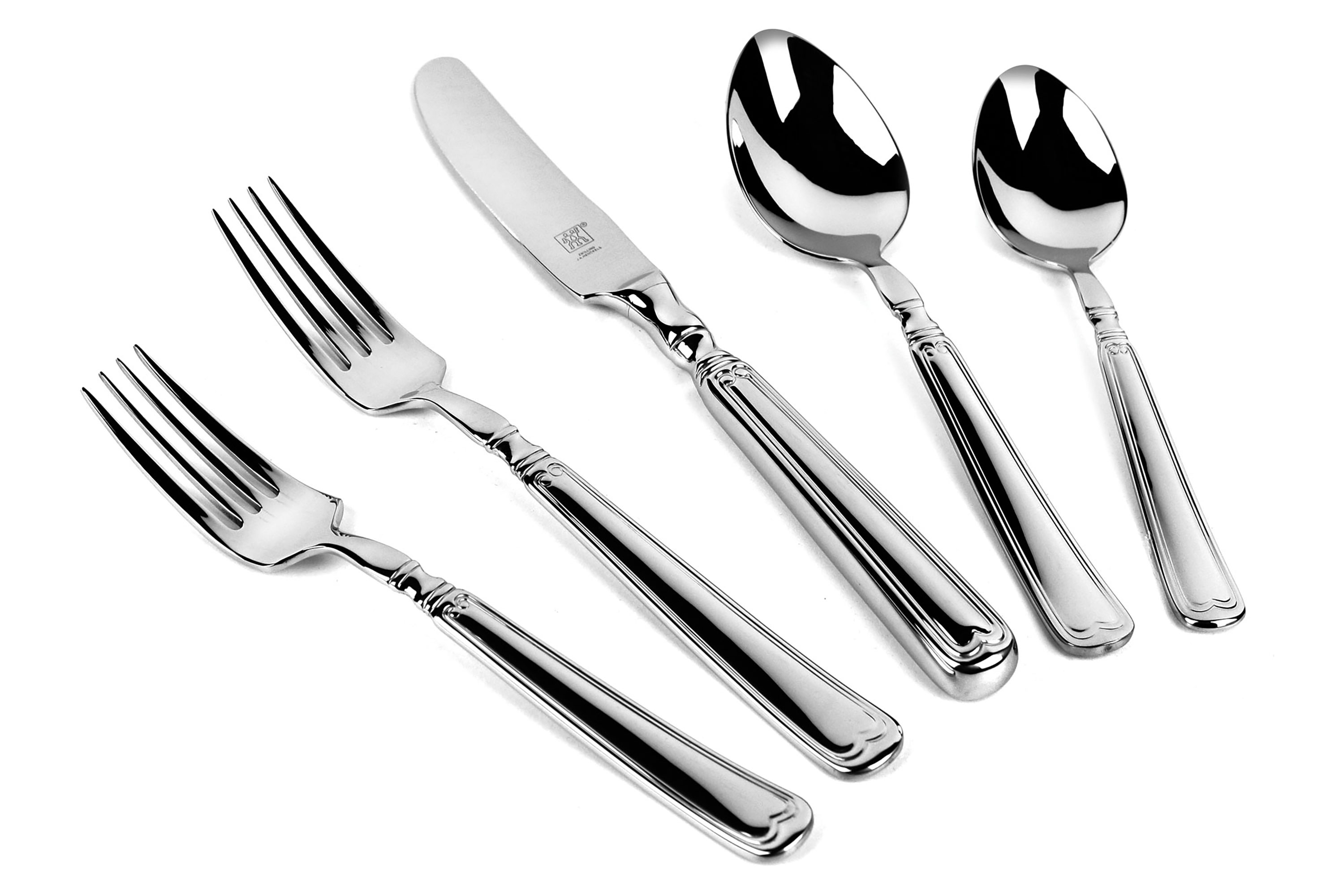 Discount Stainless Flatware Zwilling J A Henckels 45 Piece Vintage 1876 Stainless Steel Flatware Set