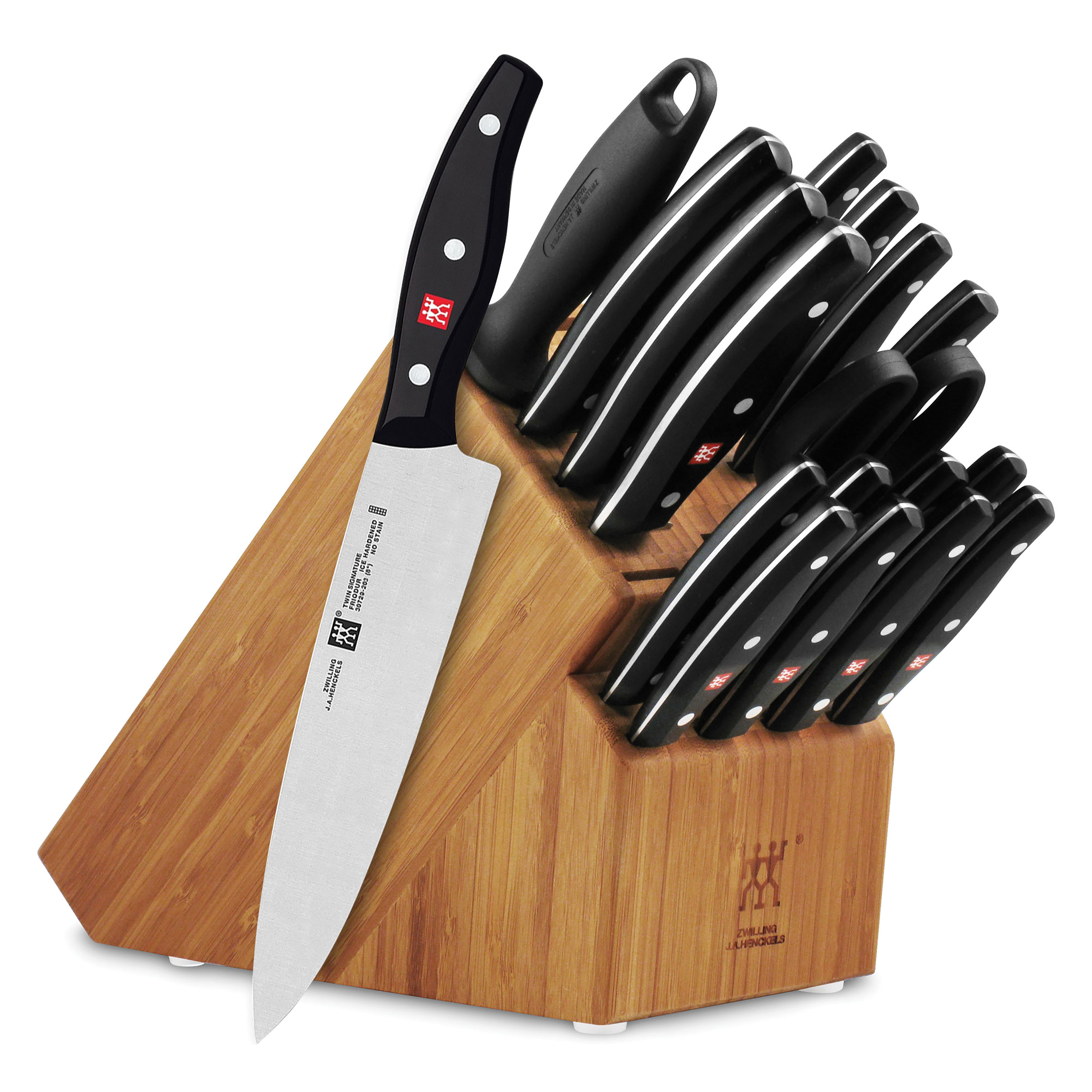 Raclette Tischgrill Zwilling J.a.henckels J A Henckels Twin Signature Knife Set 19 Piece With Block