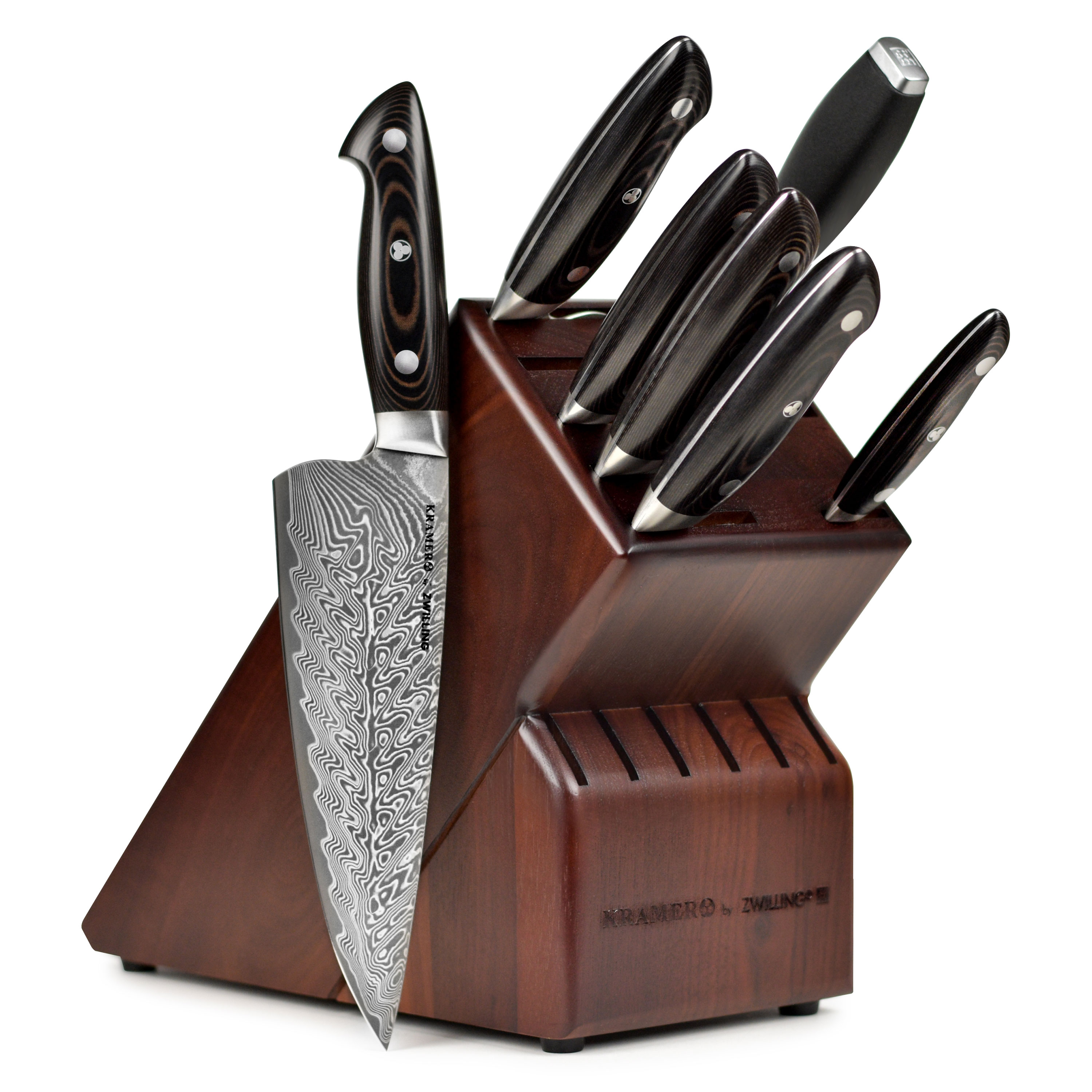 Raclette Tischgrill Zwilling J.a.henckels Bob Kramer Damascus Knife Set 8 Piece With Block By