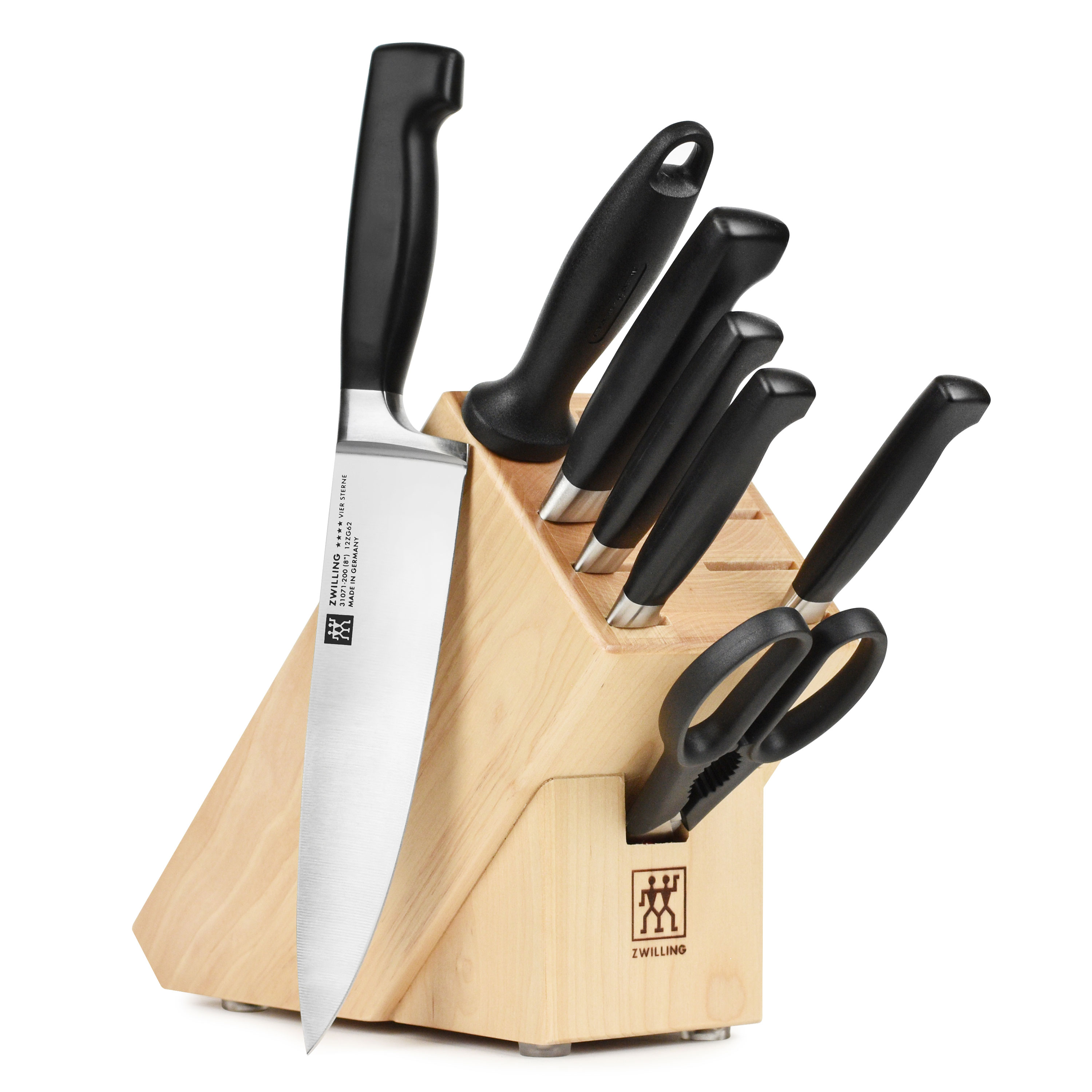 Raclette Tischgrill Zwilling J.a.henckels Zwilling Four Star Set 8 Piece With Knife Block By J A