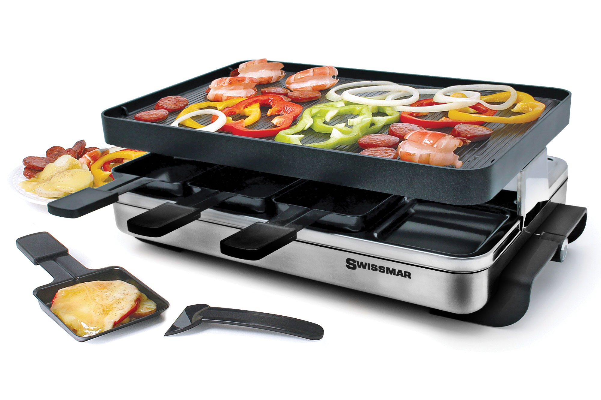 Raclette Tischgrill Zwilling J.a.henckels Swissmar Stelvio Stainless Steel Raclette Grill 8 Person