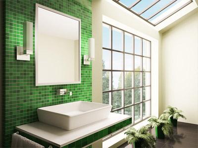 Fliesen grün die Natur ins Bad holen mit einer frischen Fliesenfarbe - badezimmer fliesen holzoptik grun