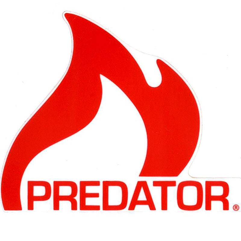 Predator Flame Logo Sticker - Red - flame logo