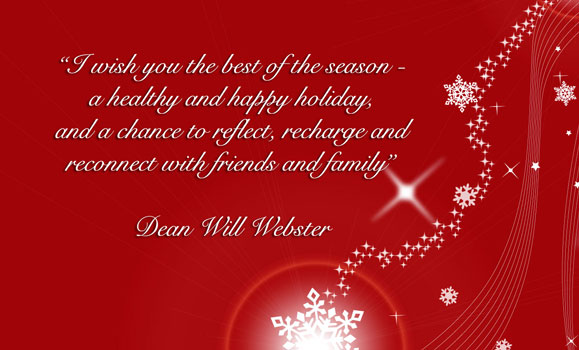 Dean\u0027s Holiday Message 2015 - Faculty of Health - Dalhousie University - holiday greeting message