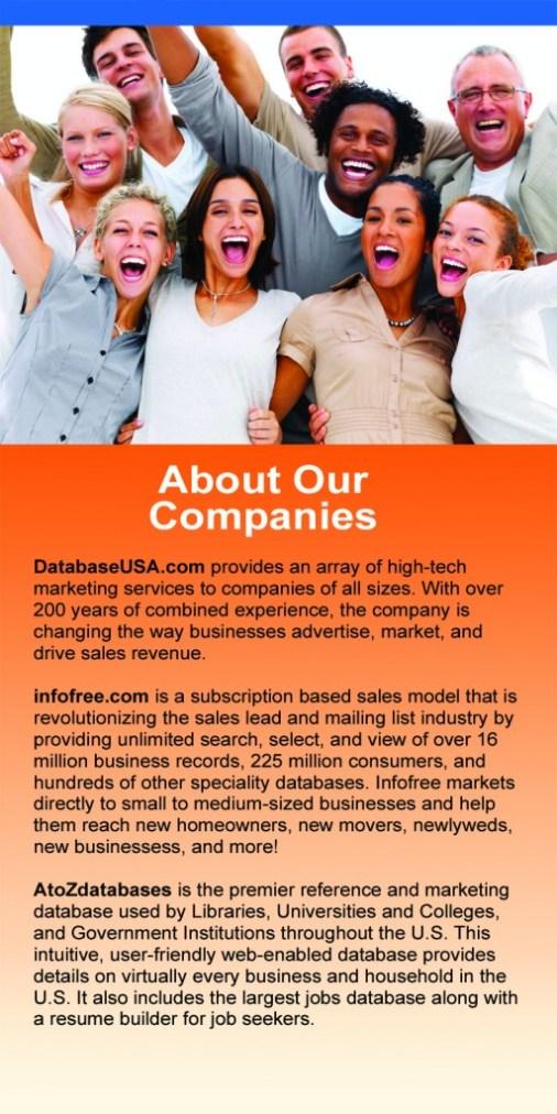 DatabaseUSA job positions, databaseusa careers, about databaseusa
