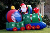 inflatable train outdoor christmas decorations - Decoist