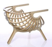 Elegant Plywood Chair from Branca