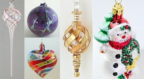 Unique Hand Blown Christmas Ornaments - unique christmas decorations